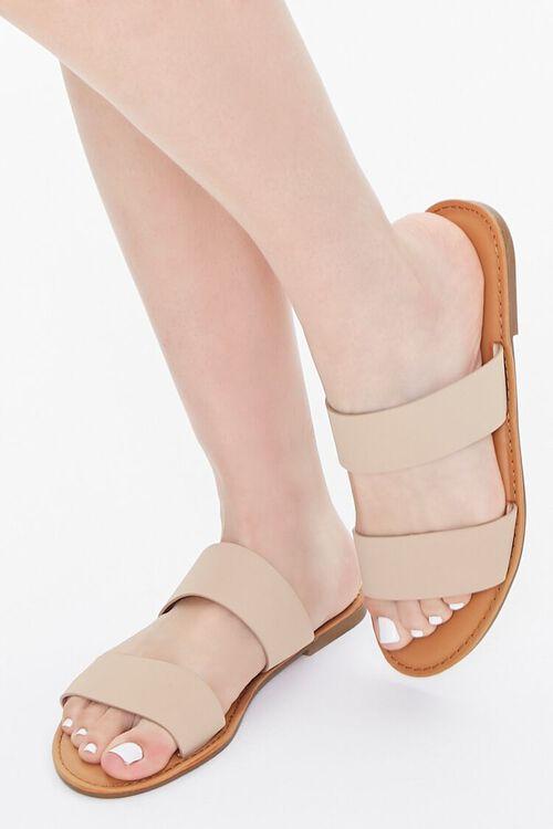 Faux Suede Dual-Strap Sandals, image 1