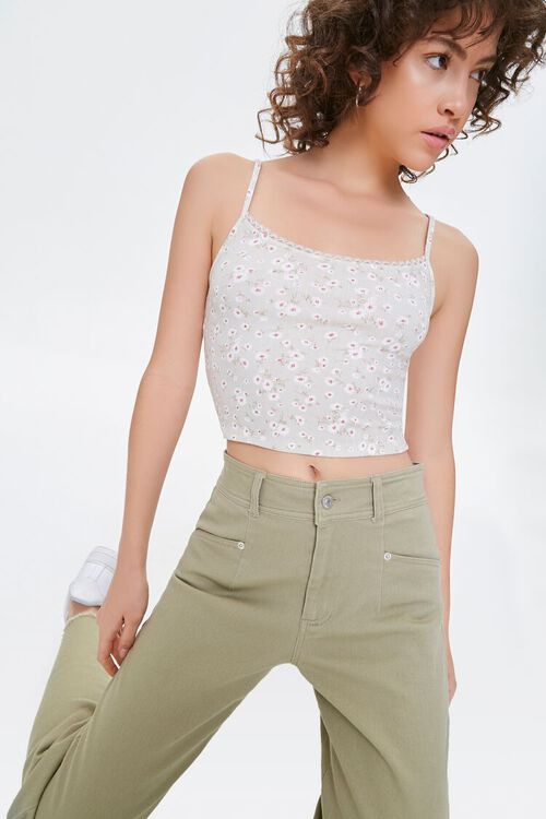 Floral Print Cropped Cami, image 1