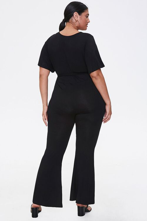 Plus Size Flare Wrap Jumpsuit, image 3
