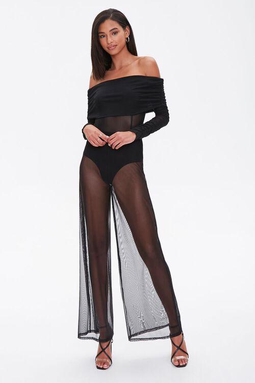 Mesh Wide-Leg Pants, image 1