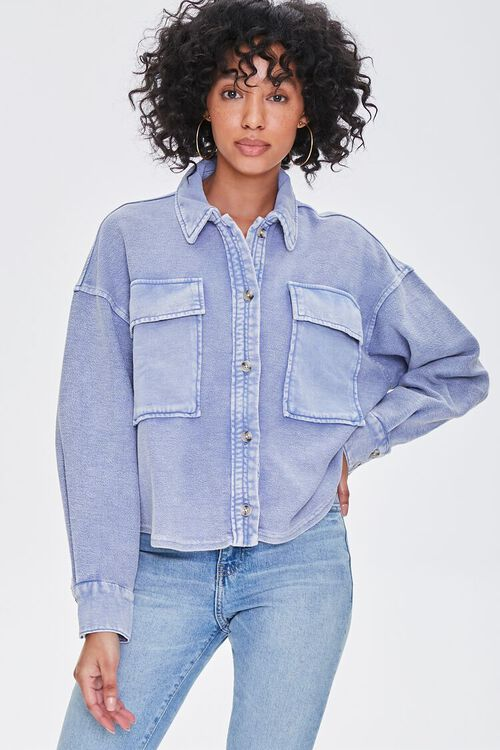 Buttoned Oil Wash Jacket, image 1