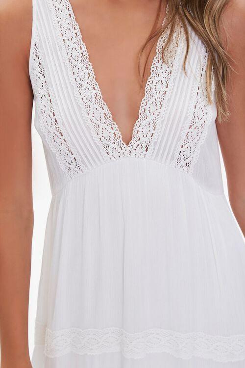 Plunging Lace-Trim Maxi Dress, image 5