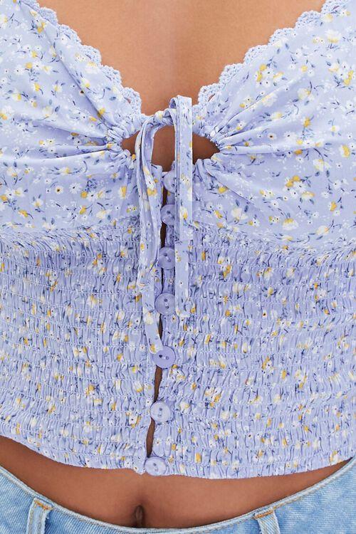 Ditsy Floral Print Crop Top, image 6
