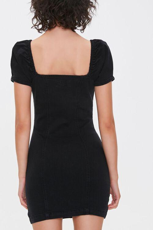 Chambray Puff-Sleeve Sheath Dress, image 3