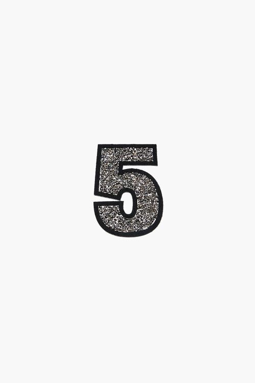 SILVER5 Iron-On Glitter Number Patch, image 3
