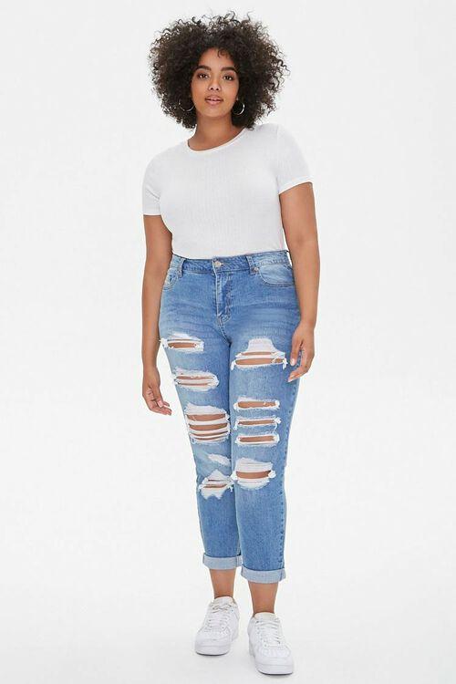 Plus Size Boyfriend Jeans, image 5