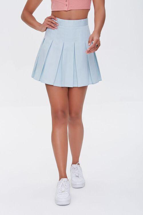 Pleated A-Line Mini Skirt, image 2