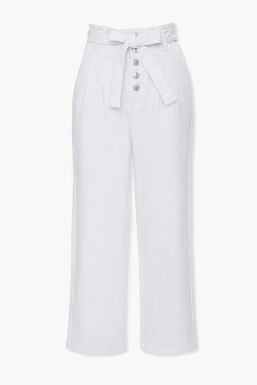 Wide-Leg Paperbag Jeans, image 1