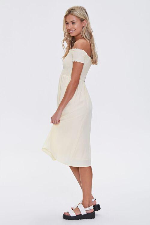 Smocked Off-the-Shoulder Midi Dress, image 2