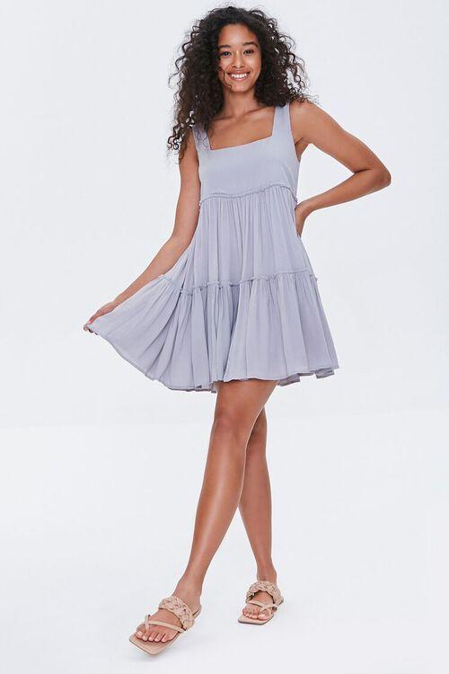 Shirred Tiered Mini Dress, image 4