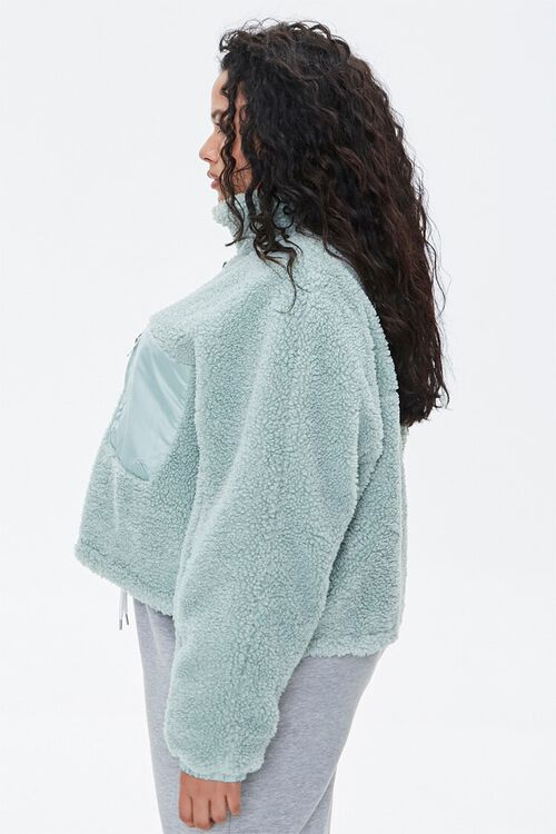 Plus Size Faux Shearling Jacket, image 2