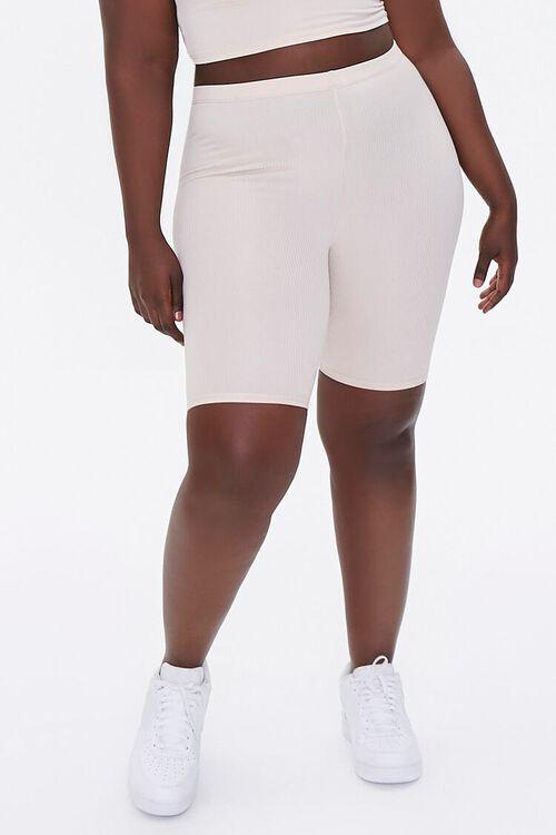 Plus Size Crop Top & Biker Shorts Set, image 6