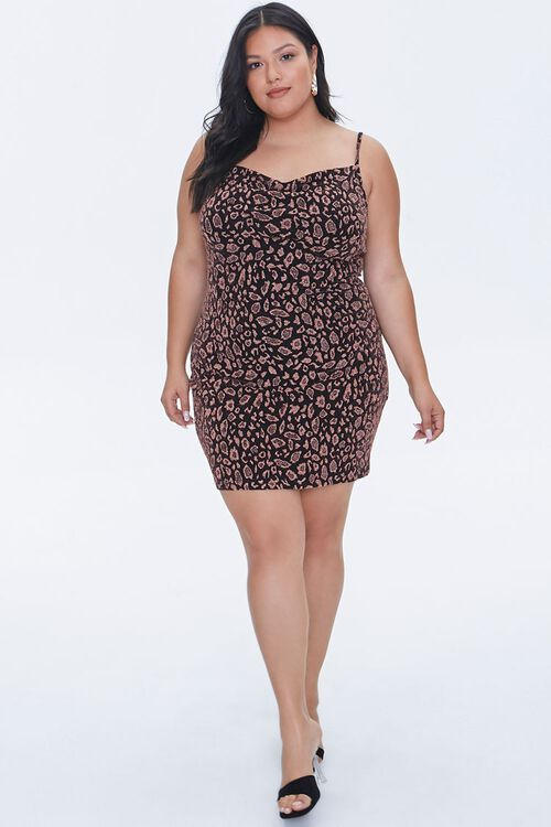 Plus Size Leopard Print Mini Dress, image 4
