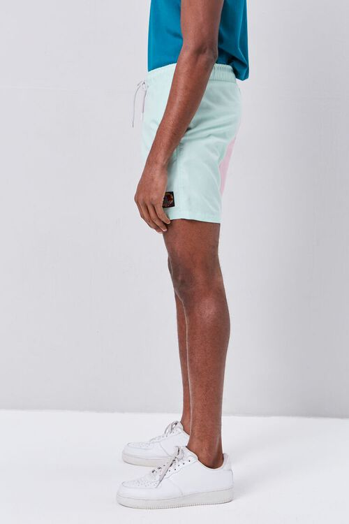 Colorblock Drawstring Swim Trunks, image 3