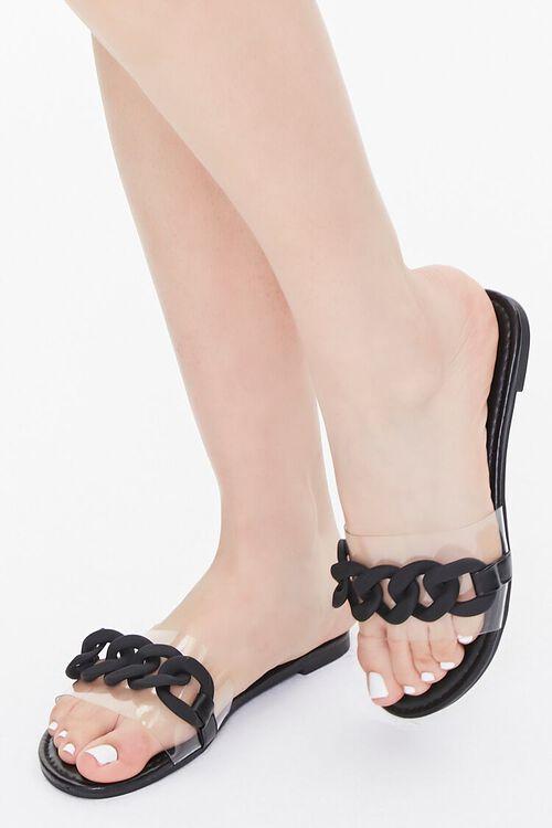 Curb Chain Flat Sandals, image 1