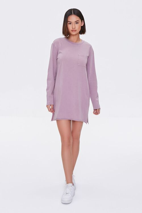 Long-Sleeve T-Shirt Dress, image 4