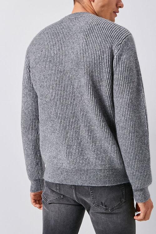 Marled Ribbed Mock Neck Sweater, image 4
