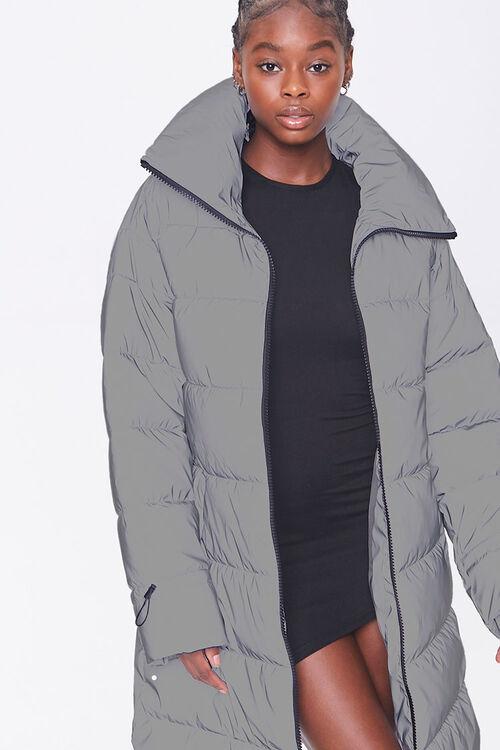 Longline Zip-Up Puffer Jacket, image 4