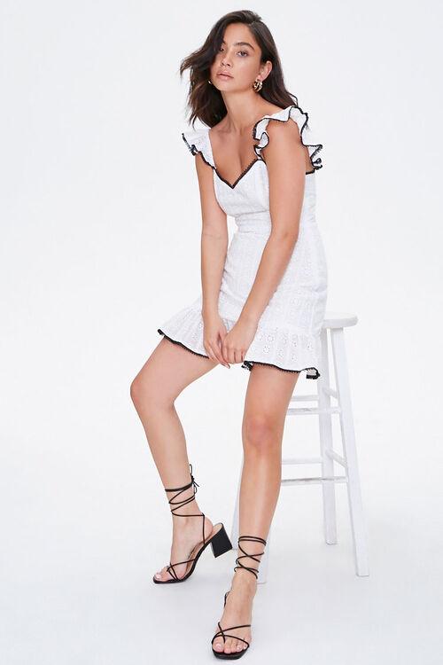 Eyelet Lace Mini Dress, image 4