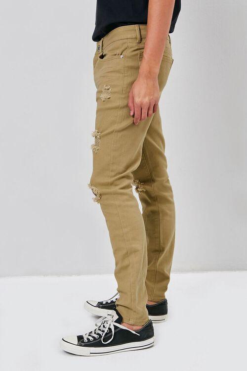 KHAKI Distressed Skinny Jeans, image 3