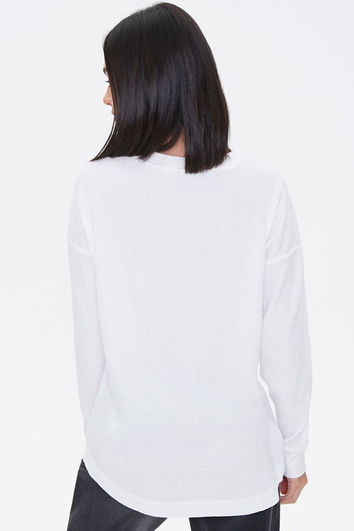 Waffle Knit Henley Top, image 3
