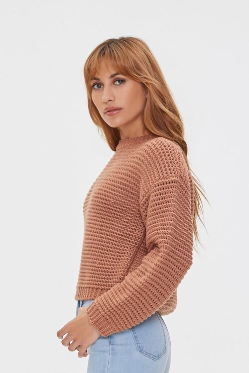 Cropped Open-Knit Sweater, image 2