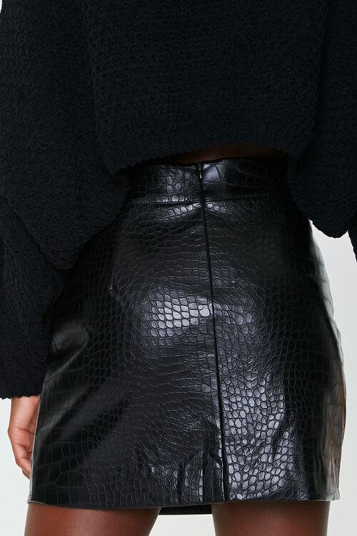 Faux Croc Mini Skirt, image 4