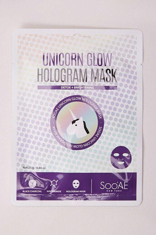 Unicorn Glow Hologram Mask, image 1