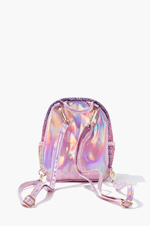 Girls Metallic Glitter Backpack (Kids), image 3