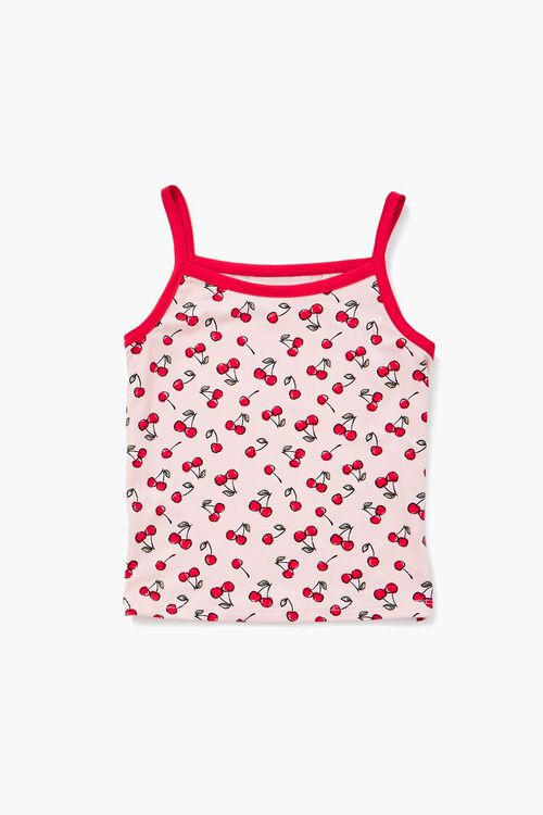 Girls Cherry Cami & Shorts Set (Kids), image 1