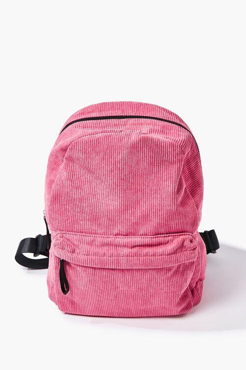 Corduroy Zippered Backpack, image 1