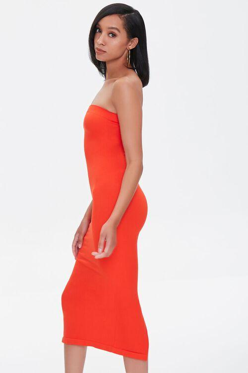Seamless Strapless Bodycon Midi Dress, image 2