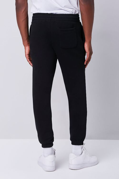 BLACK/MULTI Smiling Face Embroidered Graphic Joggers, image 3