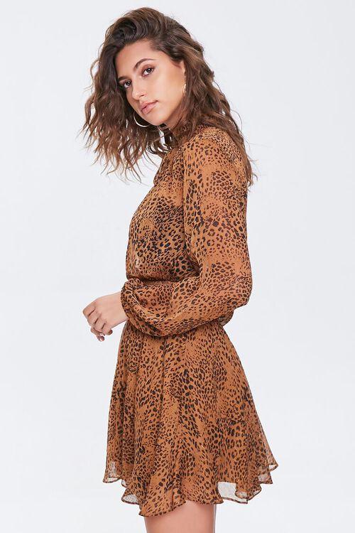 BROWN/BLACK Chiffon Cheetah Print Dress, image 2