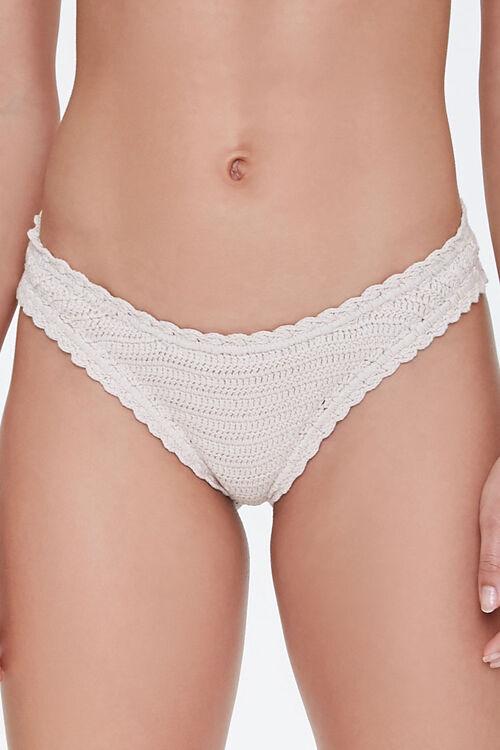 Crochet Low-Rise Bikini Bottoms, image 2