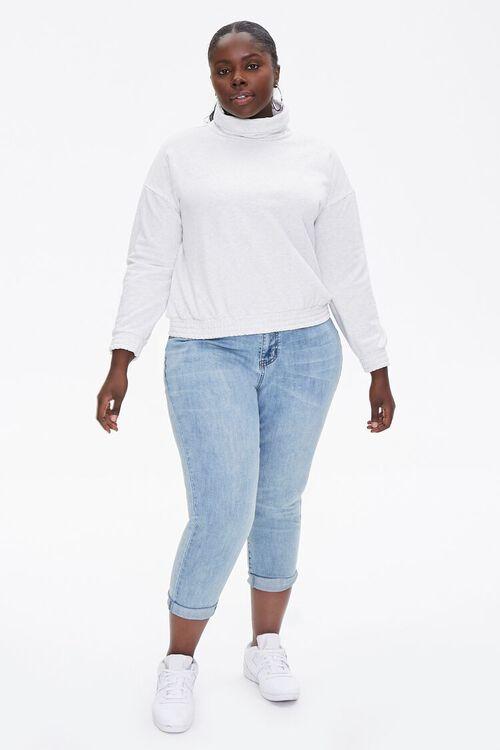 Plus Size Turtleneck Pullover, image 4