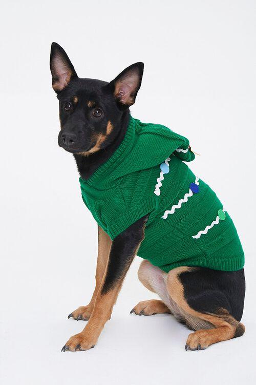 GREEN/MULTI Christmas Tree Dog Sweater, image 2