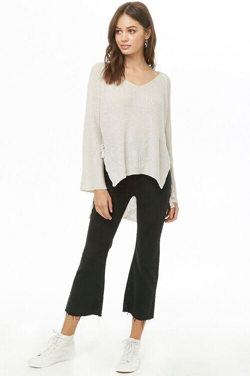 High-Low Side-Tie Sweater, image 4