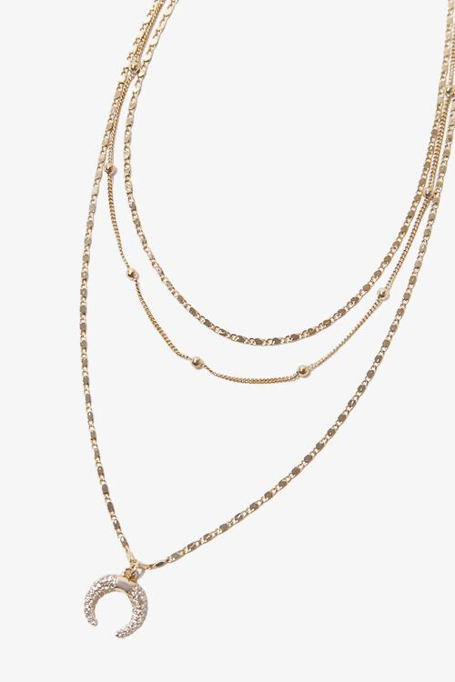 Double Horn Pendant Necklace, image 2