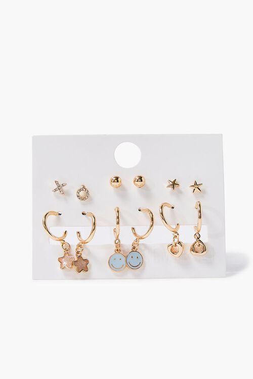 Star Charm Hoop & Stud Earring Set, image 2
