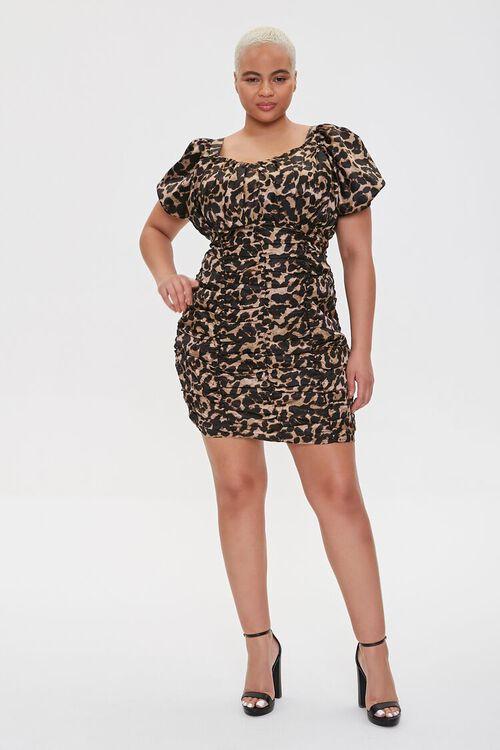 Plus Size Leopard Print Bodycon Dress, image 4