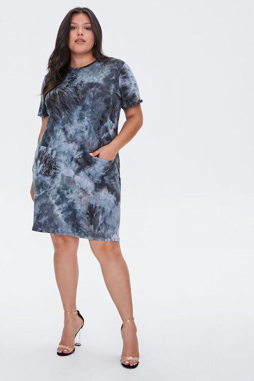 Plus Size Tie-Dye T-Shirt Dress, image 1