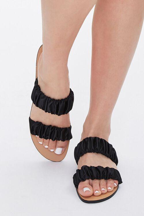 Satin-Strap Flat Sandals, image 4