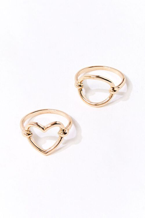GOLD Cutout Charm Ring Set, image 1