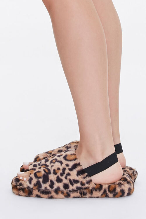 Faux Fur Open Toe Slippers, image 2