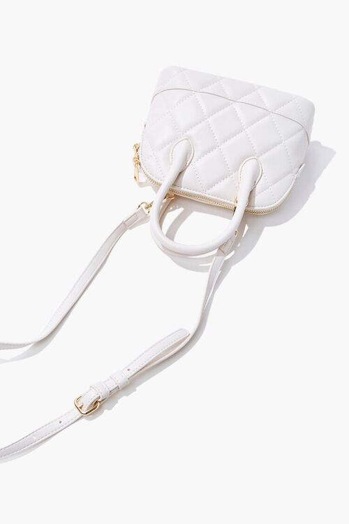 Faux Leather Quilted Satchel, image 4