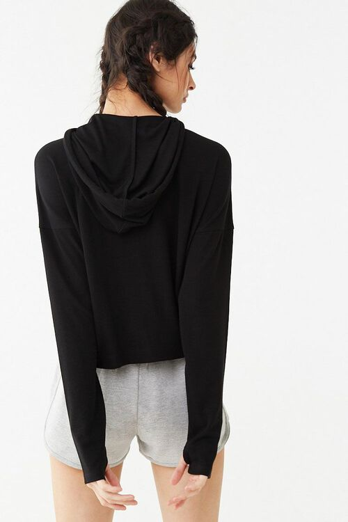 Active Ribbed Hooded Top, image 3