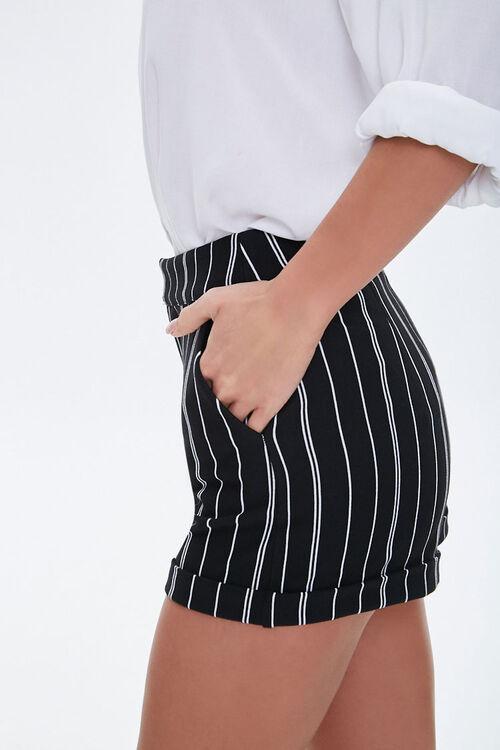 Pinstriped Cuff-Hem Shorts, image 2