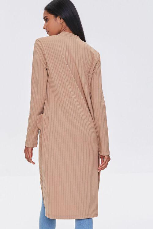 TAUPE Longline Cardigan Sweater, image 3