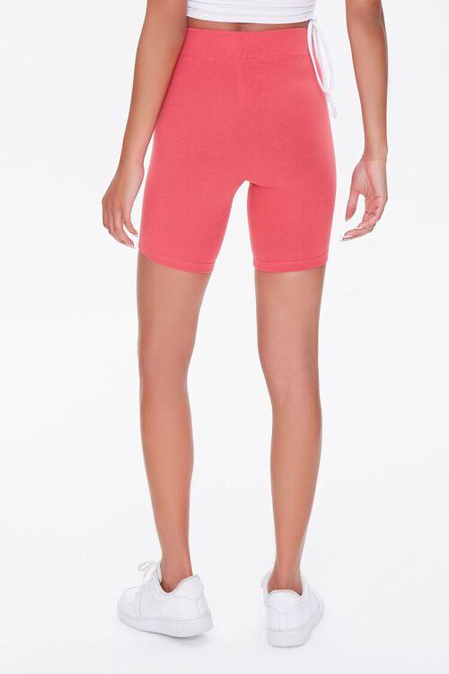 RUST/WHITE Side-Striped Biker Shorts, image 4